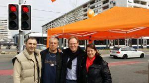 Stand au Petit-Lancy 28 mars 2015
